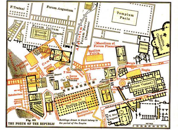 Forum Romanum Rome plattegrond