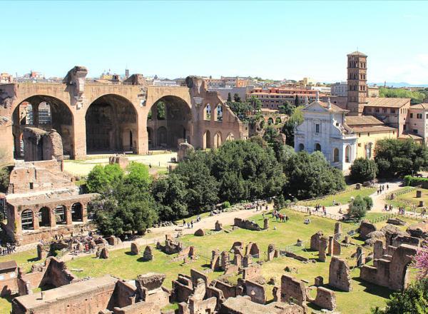 Forum Romanum Rome vanaf Palatijn